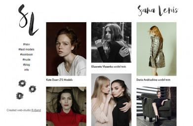 Сайт-портфолио 'Sara Lenis'