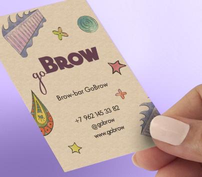 Фирменный стиль Brow Bar «Go Brow»